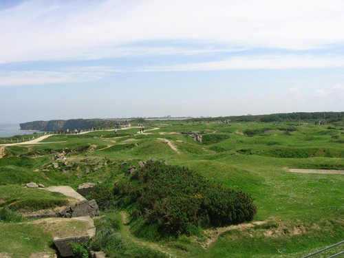 Bomb craters at Pointe du Hoc